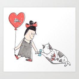 Hello valentine Art Print