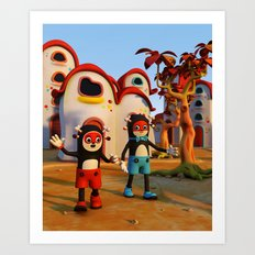 Goodbye Matatoon town Art Print