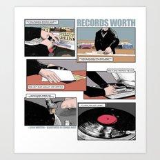 Records Worth Art Print