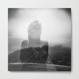 Devastation - Holga Double Exposure - Oregon Coast Metal Print