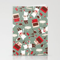 chef Stationery Cards featuring  Chef pattern by Maria Jose Da Luz