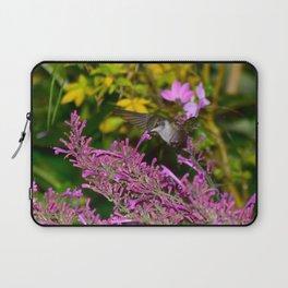 Hovering hummingbird feeding from agastache 58 Laptop Sleeve