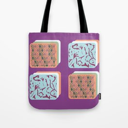 art deco patterned squares Tote Bag