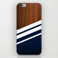 navy iPhone & iPod Skins featuring Wooden Navy by Nicklas Gustafsson