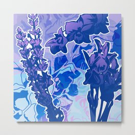 Lavender, Orchid, and Iris Metal Print