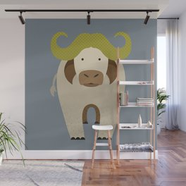 Whimsy Cape Buffalo Wall Mural