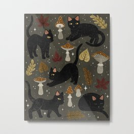 autumn cat magic Metal Print