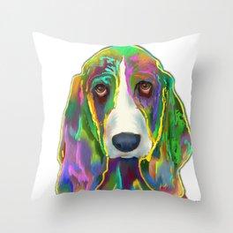 Basset Hound 3 Throw Pillow