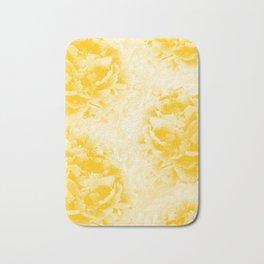Yellow Peonies Dream #1 #floral #decor #art #society6 Bath Mat