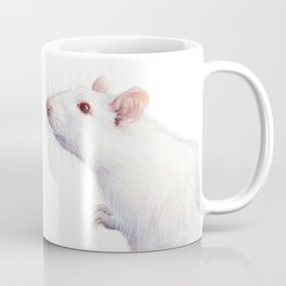 White Rat Watercolor Albino Rat Animal Coffee Mug
