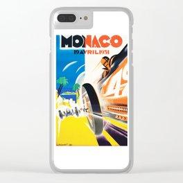 Grand Prix Monaco, 1931, vintage poster Clear iPhone Case