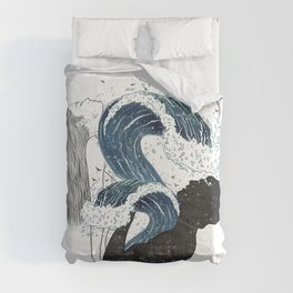 Through waves and galaxy. Comforters