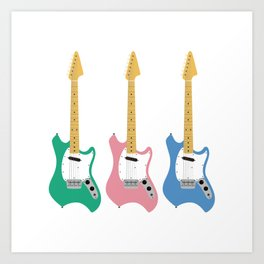Strumming the guitar! Art Print