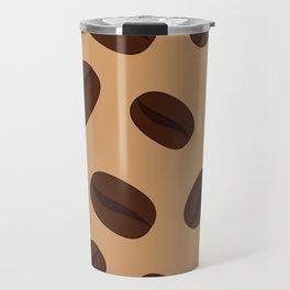 Cool Brown Coffee beans pattern Travel Mug