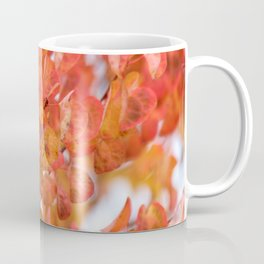 Fall Leaves in Red and Orange Coffee Mug