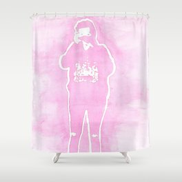 Harry Camera Pink Shower Curtain
