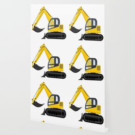 Yellow Excavator Wallpaper