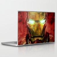 iron man Laptop & iPad Skins featuring Iron Man by SachsIllustration