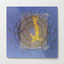 Fish in Peace - Royal Blue Metal Print