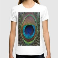 peacock feather T-shirts featuring Peacock Feather by MetallicSkin