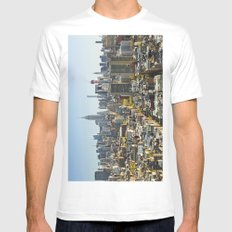 New York City from Tribeca. MEDIUM Mens Fitted Tee White