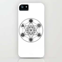 Metatron's Cube with Platonic Solids and Seed of Life iPhone Case