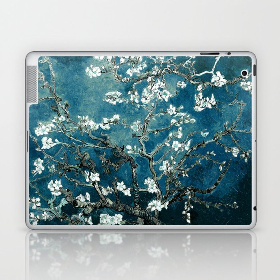 Van Gogh Almond Blossoms : Dark Teal Laptop & iPad Skin