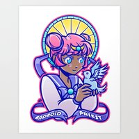 magical girl Art Prints featuring Magical Girl by AndroïdPrïest