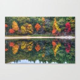 Walden Pond Fall Foliage Concord MA Reflection Canvas Print