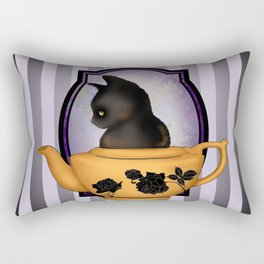 Teapot Cat Rectangular Pillow