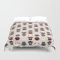 nfl Duvet Covers featuring Birth of Pro Football by Joe Gemma