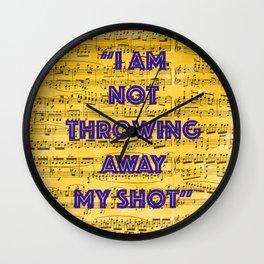 My Shot Wall Clock