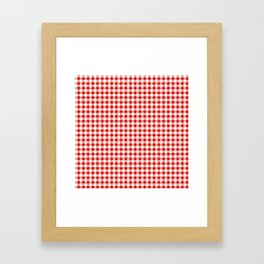 Christmas gingham pattern red and green cute gifts home decor for the holidays Framed Art Print