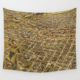 Vintage Pictorial Map of Fort Worth TX (1891) Wall Tapestry