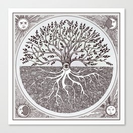 Tree of Life as above so below Canvas Print
