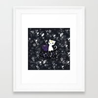 sailormoon Framed Art Prints featuring Sailormoon Luna and Artemis by Mayying
