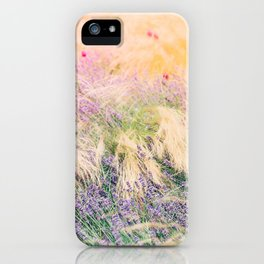 Fields of Lavender iPhone Case
