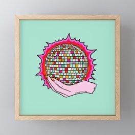 The Holy Disco Ball Framed Mini Art Print