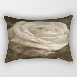 Pink Roses in Anzures 2 Antiqued Rectangular Pillow
