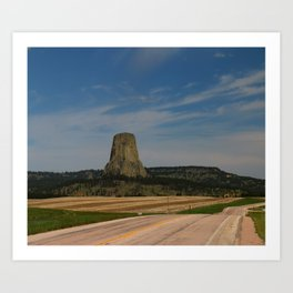 Road To Devils Tower Art Print