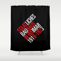 bauhaus Shower Curtains featuring Staatliches Bauhaus by THE USUAL DESIGNERS