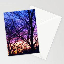 branch silhouette Stationery Cards