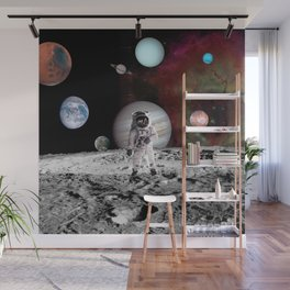 flaying in space Wall Mural
