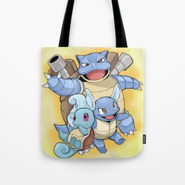 The evolutions of Squirtle Tote Bag