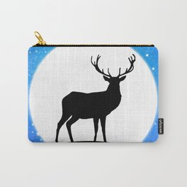 Deer and Moon Carry-All Pouch