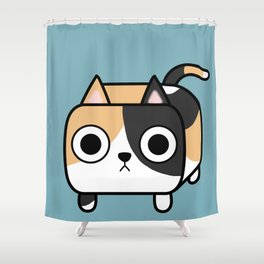 Cat Loaf - Calico Kitty Shower Curtain