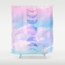 Unicorn Pastel Clouds Moon Phases #1 #decor #art #society6 Shower Curtain