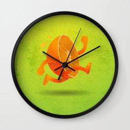 Half Orange (Left) Wall Clock