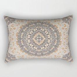 N127 - Oriental Vintage Traditional Floral Moroccan Mandala Artwork. Rectangular Pillow