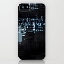 Spaceship structure urban intricate pattern abstract background iPhone Case
